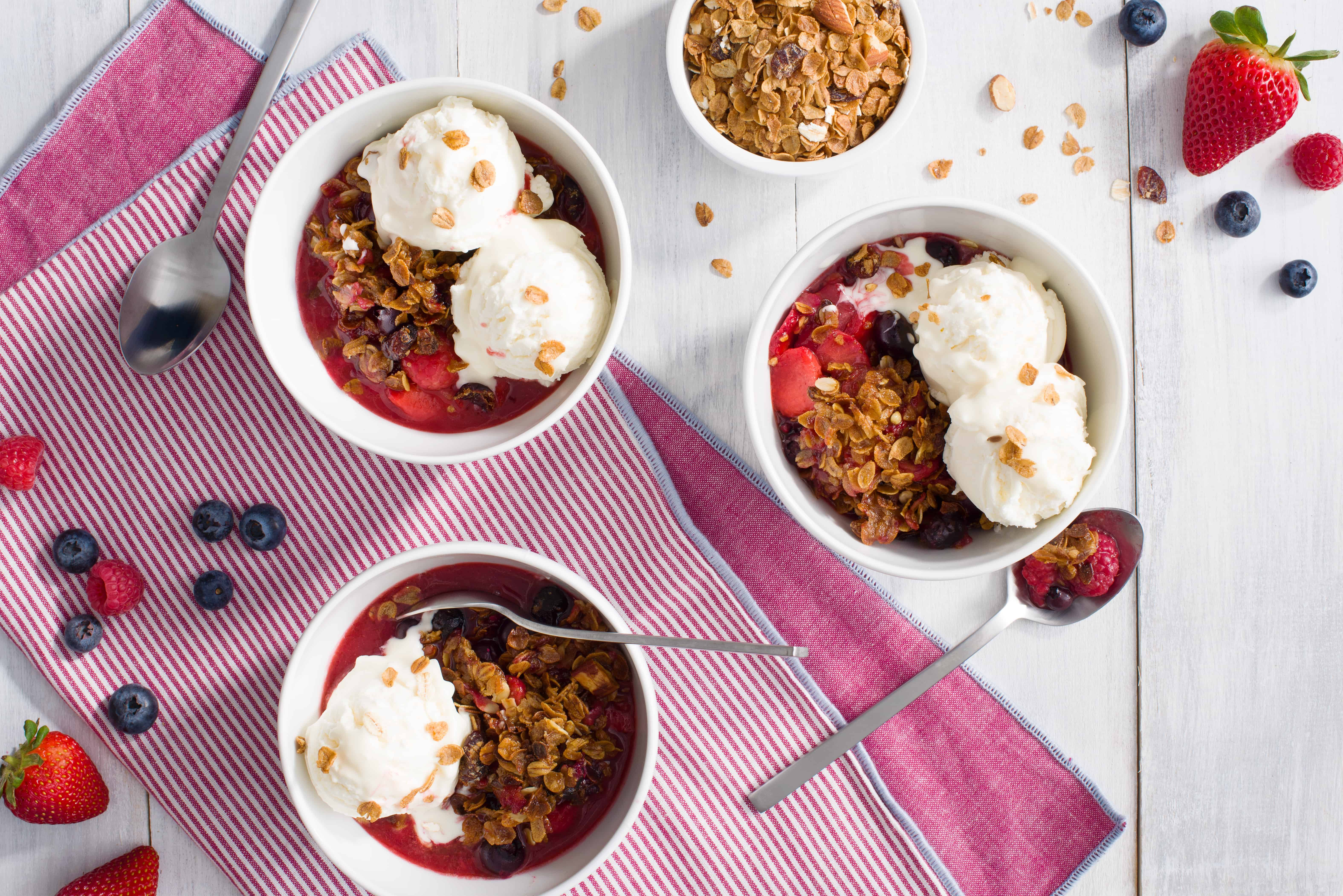 Fourth of July Berry Crumble