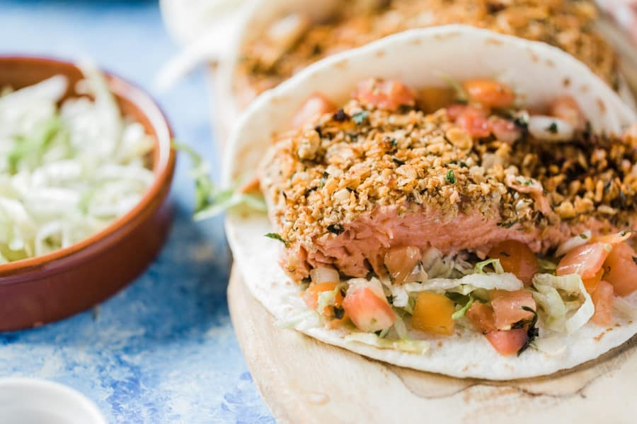 Gut Friendly Salmon Tacos