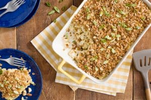 Mac and Cheese with Crispy Maple Nut Topping