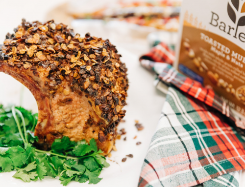 Garlic and Barley Crusted Prime Rib Roast